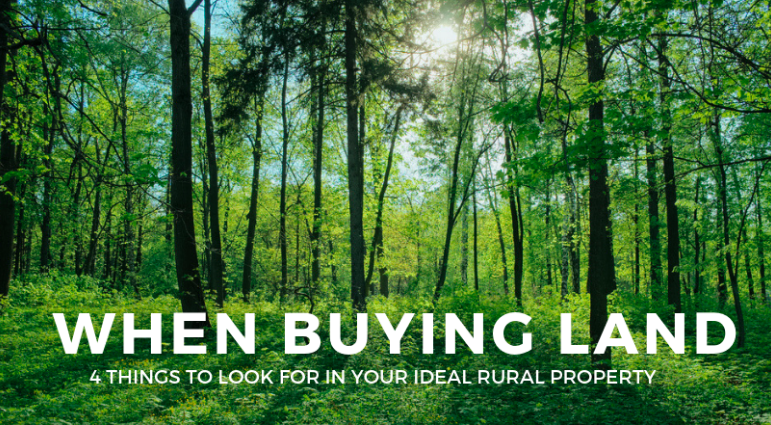 what to look for in rural property